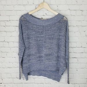 Free People open knit crew neck sweater